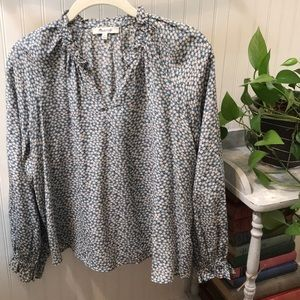 Madewell Silk Floral Blouse
